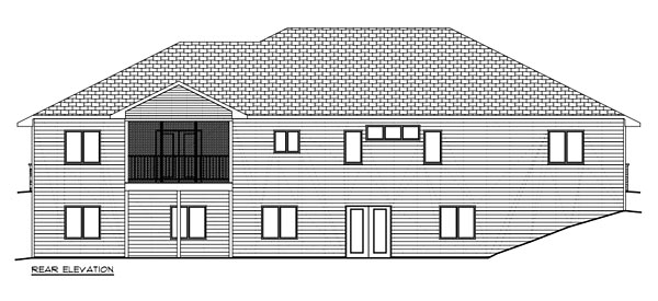 Craftsman, Traditional House Plan 50906 with 3 Beds, 2 Baths, 3 Car Garage Rear Elevation