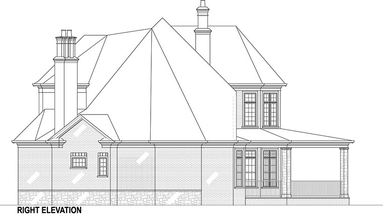 European, French Country Plan with 3302 Sq. Ft., 5 Bedrooms, 5 Bathrooms, 5 Car Garage Picture 5