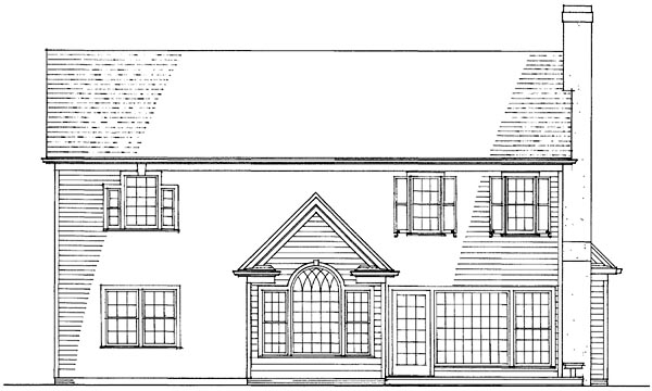 Country, Traditional House Plan 86251 with 3 Beds, 3 Baths, 2 Car Garage Rear Elevation