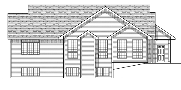 Ranch House Plan 97183 with 3 Beds, 3 Baths, 2 Car Garage Rear Elevation
