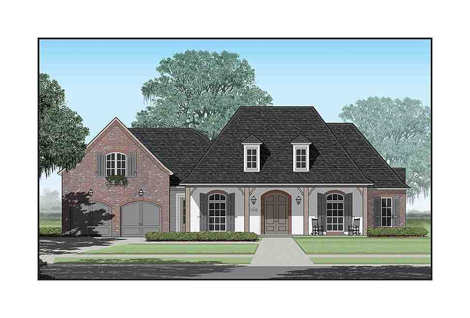 Colonial, Country, French Country, Southern House Plan 40339 with 4 Beds, 5 Baths, 3 Car Garage Elevation