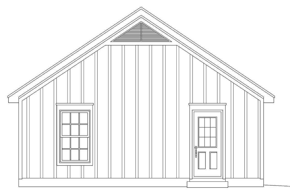 Cape Cod, Country, Ranch, Saltbox, Traditional 2 Car Garage Plan 40831 Picture 1
