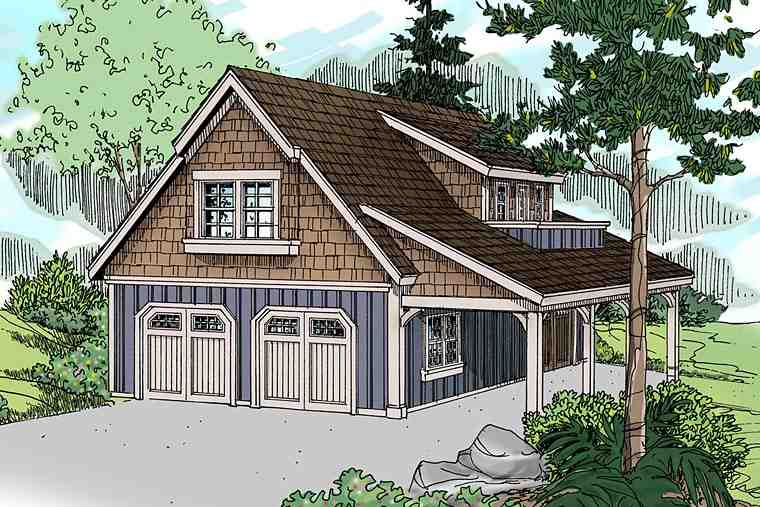 Craftsman, Traditional 2 Car Garage Plan 41246 Elevation