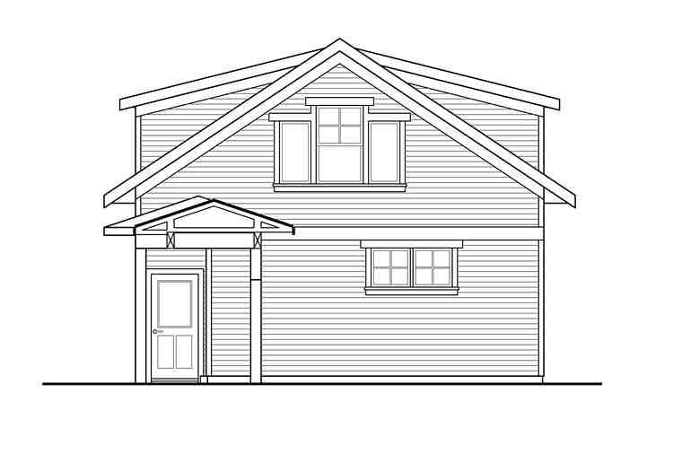 Traditional 2 Car Garage Apartment Plan 41281 Rear Elevation