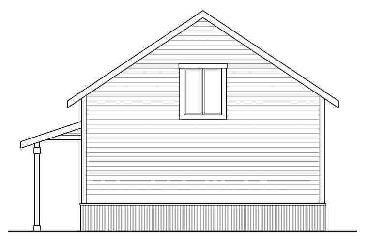Country 2 Car Garage Apartment Plan 41294 Rear Elevation