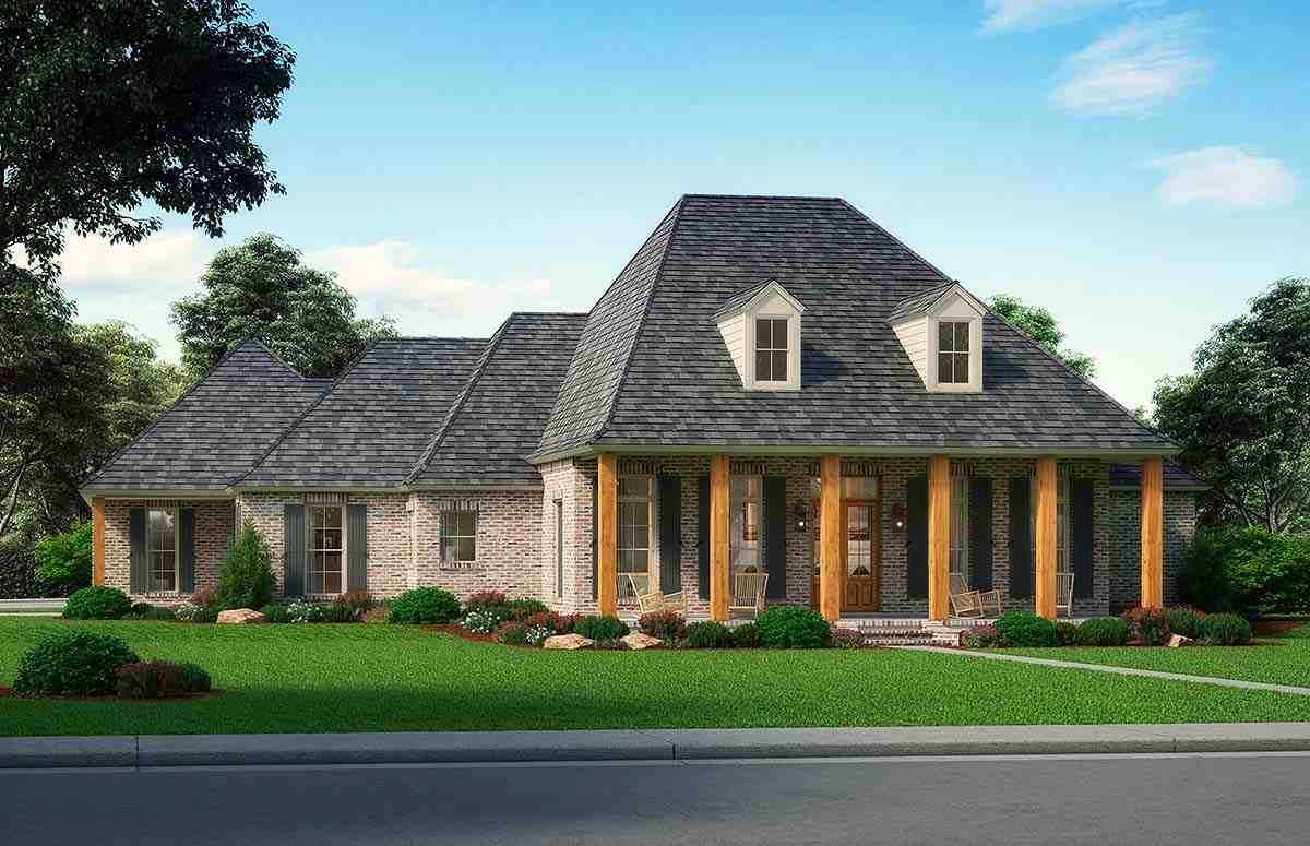 European, Traditional House Plan 41403 with 4 Beds, 3 Baths, 3 Car Garage Elevation