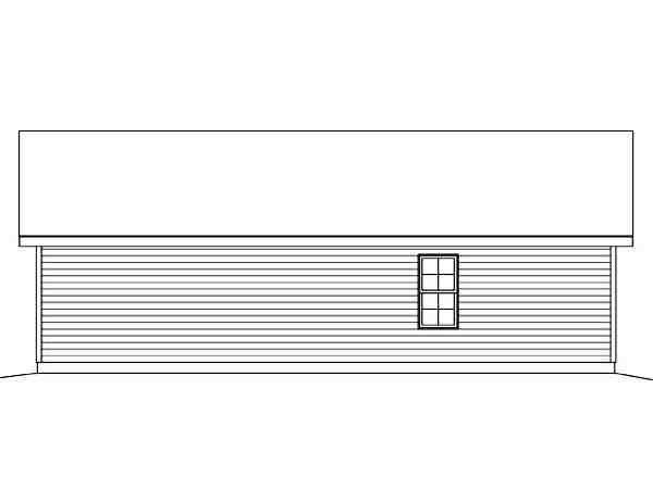 2 Car Garage Plan 45123 Rear Elevation