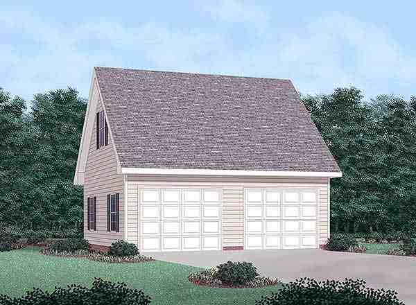 2 Car Garage Plan 45458 Elevation