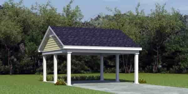 2 Car Garage Plan 45769 Elevation
