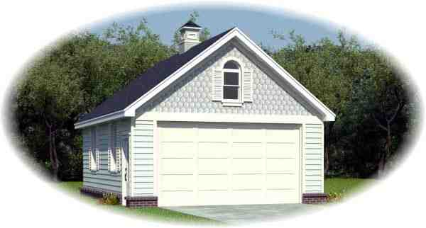 Country, Victorian 2 Car Garage Plan 45791 Elevation