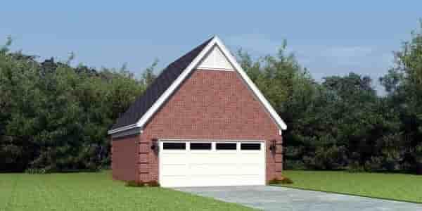 2 Car Garage Plan 45794 Elevation