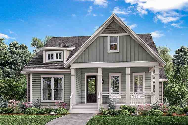 Country, Craftsman, Traditional House Plan 51936 with 4 Beds, 3 Baths, 2 Car Garage Elevation