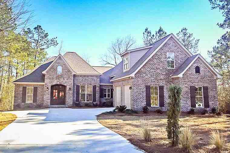 European, French Country, Traditional House Plan 51947 with 3 Beds, 3 Baths, 2 Car Garage Elevation