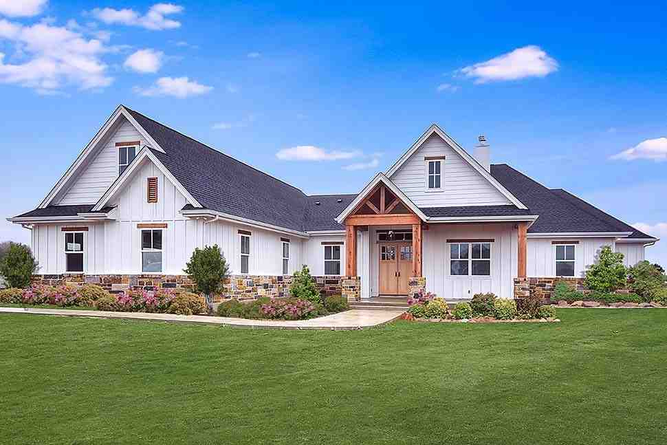 Cottage, Craftsman, Southern House Plan 51978 with 5 Beds, 4 Baths, 3 Car Garage Elevation