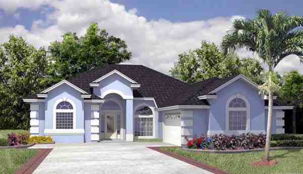 House Plan 53250 with 3 Beds, 2 Baths, 2 Car Garage Elevation