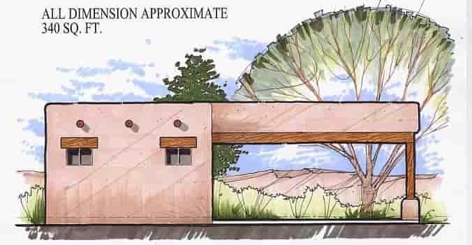 1 Car Garage Plan 54787 Elevation