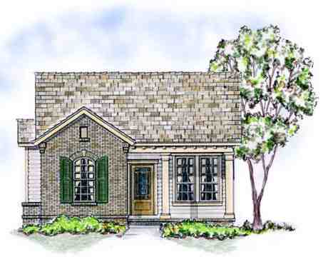 Bungalow, Traditional House Plan 56502 with 3 Beds, 2 Baths, 2 Car Garage Elevation