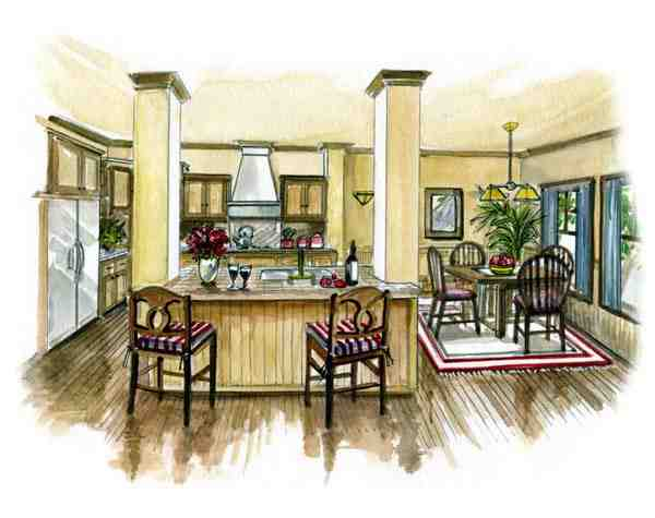 Bungalow, Traditional House Plan 56502 with 3 Beds, 2 Baths, 2 Car Garage Picture 1