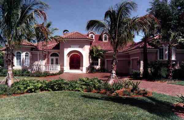Florida House Plan 58902 with 4 Beds, 5 Baths, 3 Car Garage Elevation