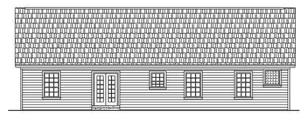 Ranch, Traditional House Plan 59002 with 3 Beds, 3 Baths, 2 Car Garage Rear Elevation