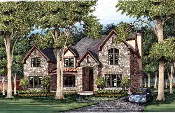 Traditional House Plan 59507 with 3 Beds, 5 Baths Elevation