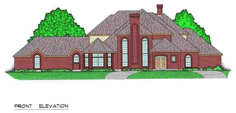 European, Traditional House Plan 60831 with 5 Beds, 5 Baths, 3 Car Garage Elevation
