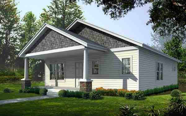 Craftsman House Plan 63505 with 2 Beds, 2 Baths Elevation