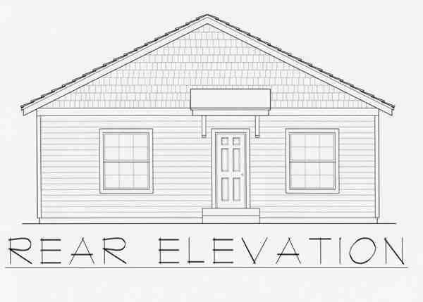 Craftsman House Plan 63505 with 2 Beds, 2 Baths Rear Elevation