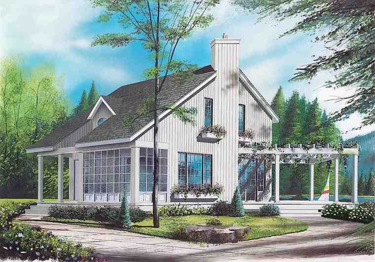 Contemporary House Plan 65161 with 2 Beds, 2 Baths Elevation