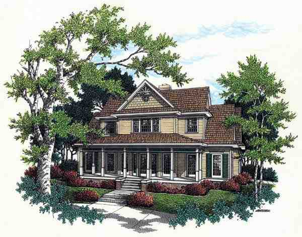 Bungalow, Country, Farmhouse House Plan 65669 with 3 Beds, 4 Baths, 2 Car Garage Elevation
