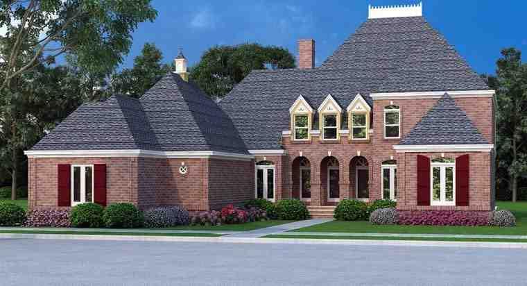 House Plan 65994 with 4 Beds, 5 Baths, 2 Car Garage Elevation