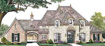 French Country House Plan 66235 with 4 Beds, 5 Baths, 3 Car Garage Elevation