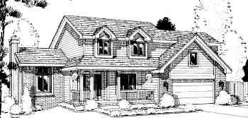 Traditional House Plan 67811 with 4 Beds, 3 Baths, 2 Car Garage Elevation