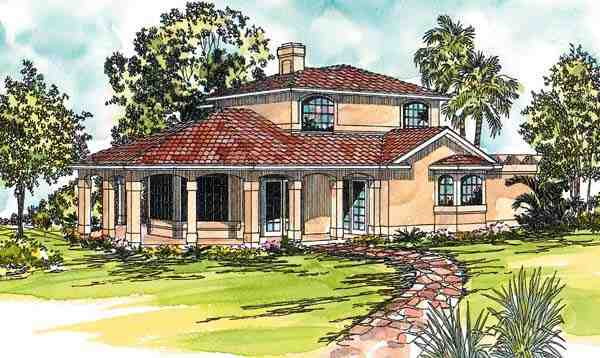 Contemporary, Prairie, Southwest House Plan 69321 with 2 Beds, 2 Baths Elevation
