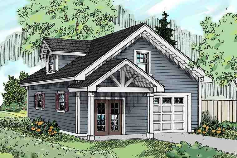 Traditional 1 Car Garage Apartment Plan 69765 Elevation