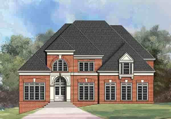 European, Greek Revival House Plan 72070 with 4 Beds, 5 Baths, 3 Car Garage Elevation