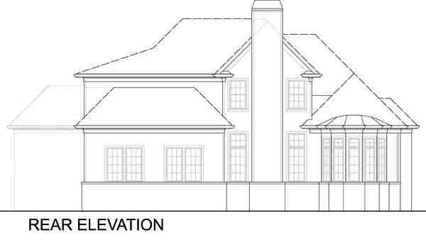 Colonial, Craftsman, European, Southern House Plan 72244 with 4 Beds, 4 Baths, 2 Car Garage Rear Elevation
