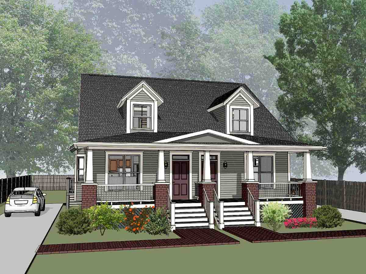 Bungalow Multi-Family Plan 72779 with 6 Beds, 4 Baths Elevation