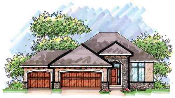 Mediterranean, One-Story, Ranch House Plan 72939 with 3 Beds, 3 Baths, 3 Car Garage Elevation
