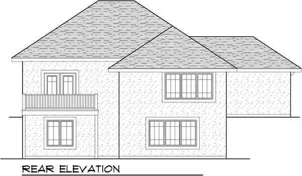 Mediterranean, One-Story, Ranch House Plan 72939 with 3 Beds, 3 Baths, 3 Car Garage Rear Elevation