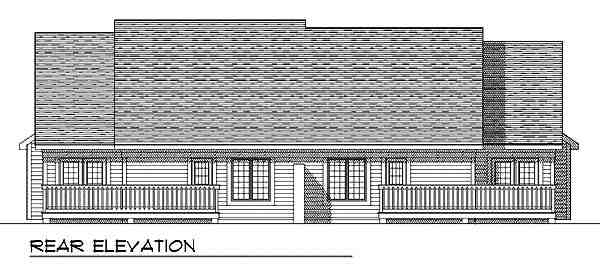 Traditional Multi-Family Plan 73474 with 6 Beds, 6 Baths, 4 Car Garage Rear Elevation