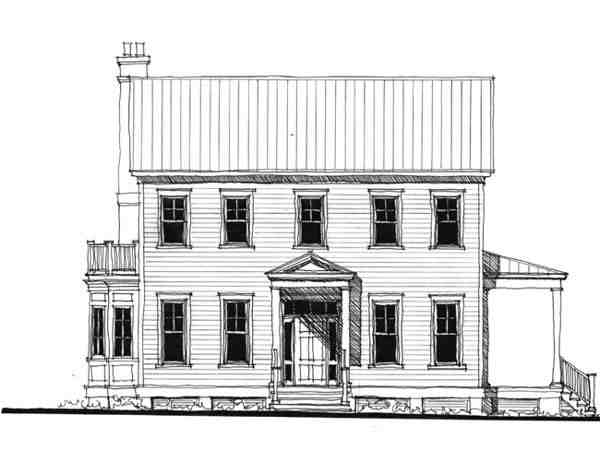 Historic, Southern House Plan 73713 with 4 Beds, 4 Baths Elevation