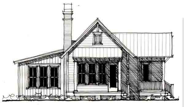 Country, Historic House Plan 73909 with 1 Beds, 1 Baths Elevation