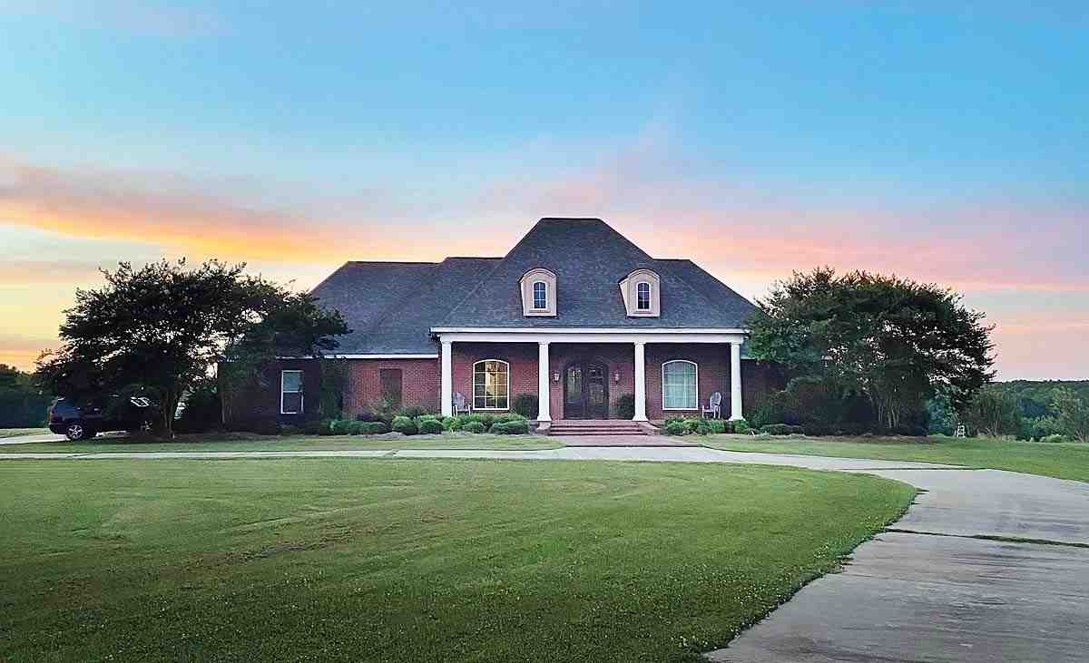 French Country, Traditional House Plan 74663 with 3 Beds, 4 Baths, 3 Car Garage Elevation