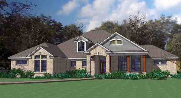 Coastal, Contemporary, Modern House Plan 75109 with 3 Beds, 3 Baths, 3 Car Garage Elevation