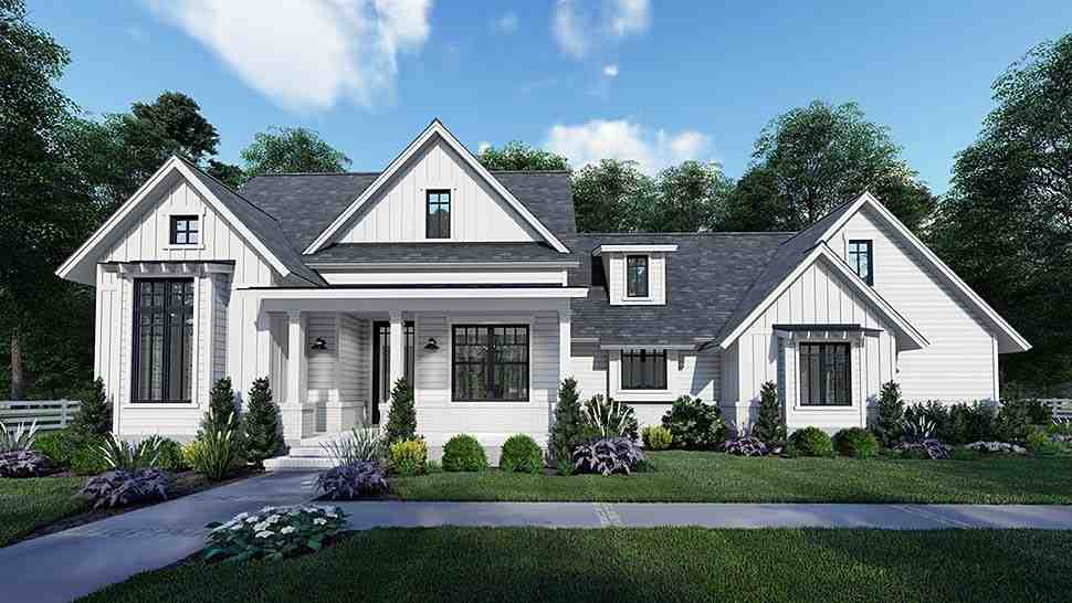 Country, Craftsman, Farmhouse, Southern House Plan 75159 with 3 Beds, 2 Baths, 2 Car Garage Elevation