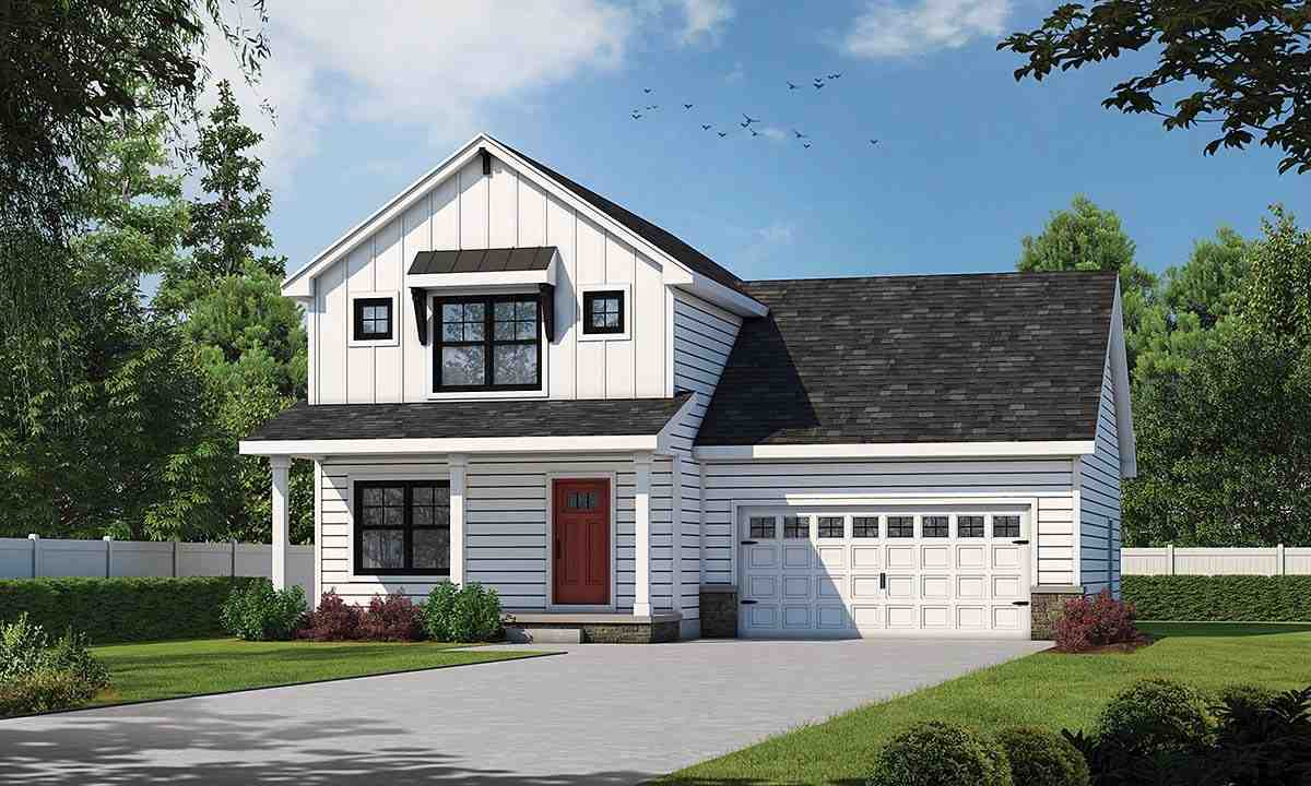 Country, Farmhouse, Traditional House Plan 75702 with 3 Beds, 3 Baths, 2 Car Garage Elevation