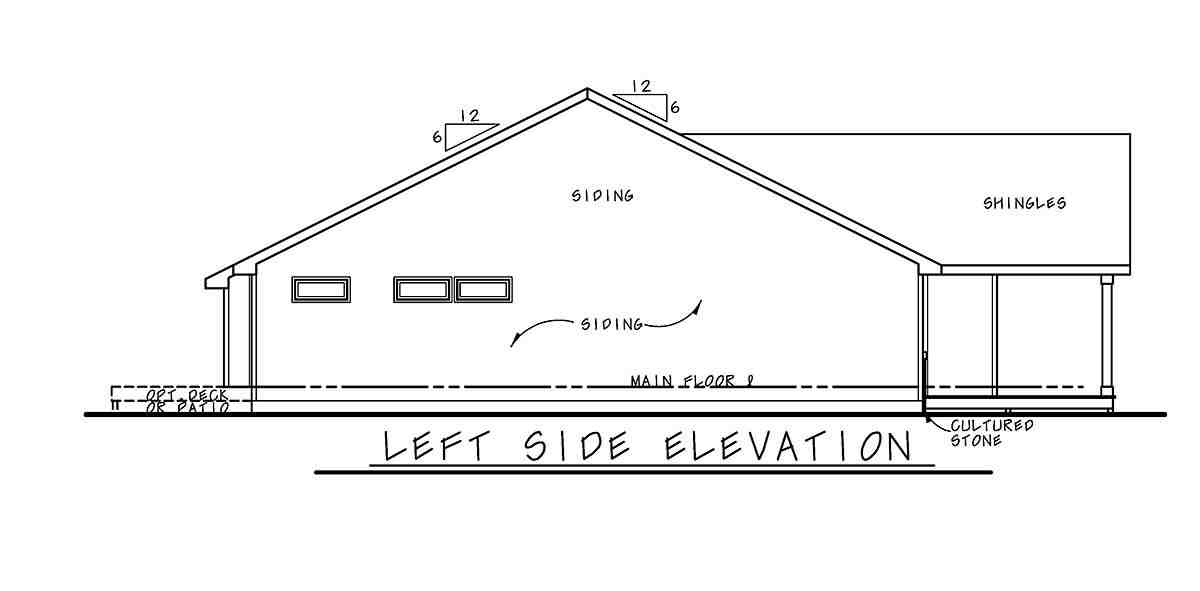Farmhouse, Ranch, Traditional House Plan 75720 with 3 Beds, 2 Baths, 2 Car Garage Picture 2