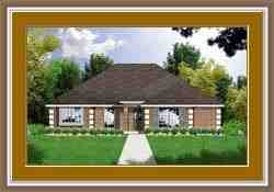 European, One-Story, Traditional House Plan 77022 with 3 Beds, 2 Baths, 2 Car Garage Elevation