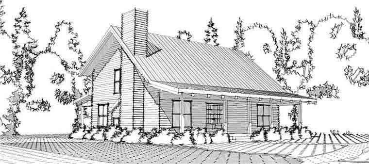 Cabin, Country, Log House Plan 78649 with 3 Beds, 3 Baths Elevation